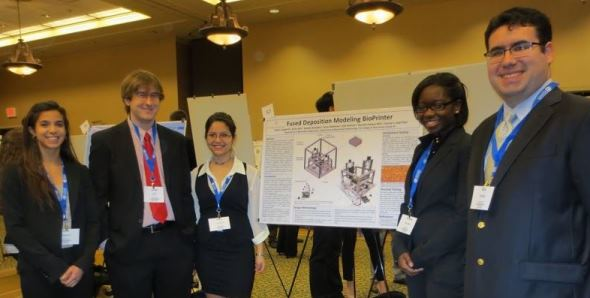 """""""Fused Deposition Modeling BioPrinter"""" team took fifth place overall at the Senior Project Design Competition"""